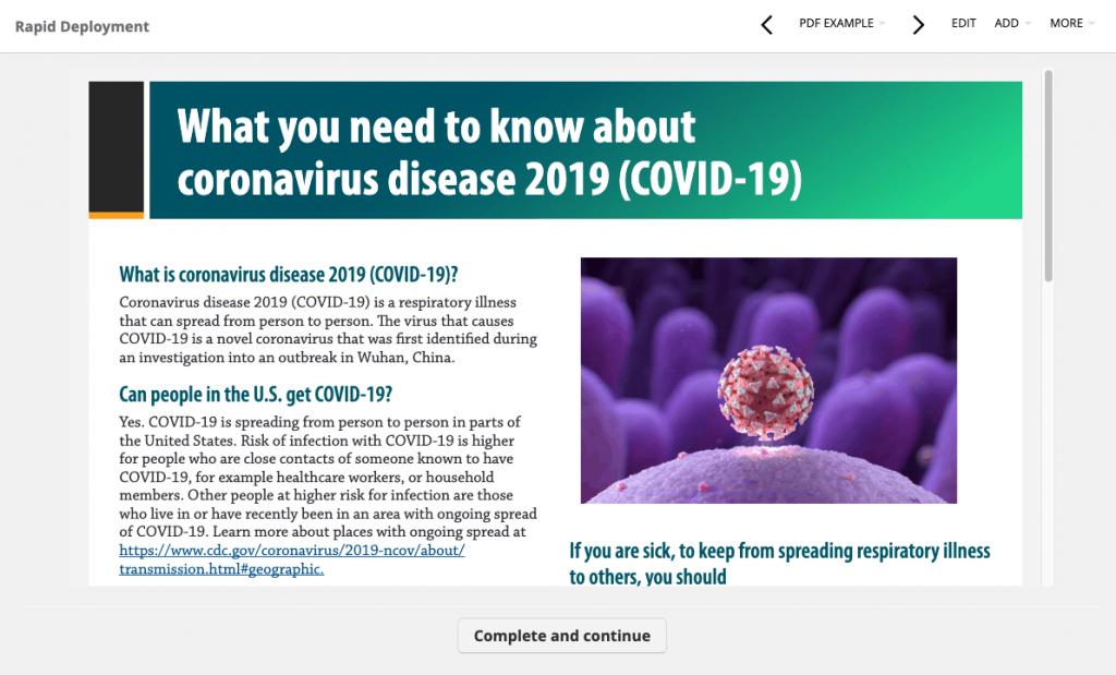 corona virus pdf example