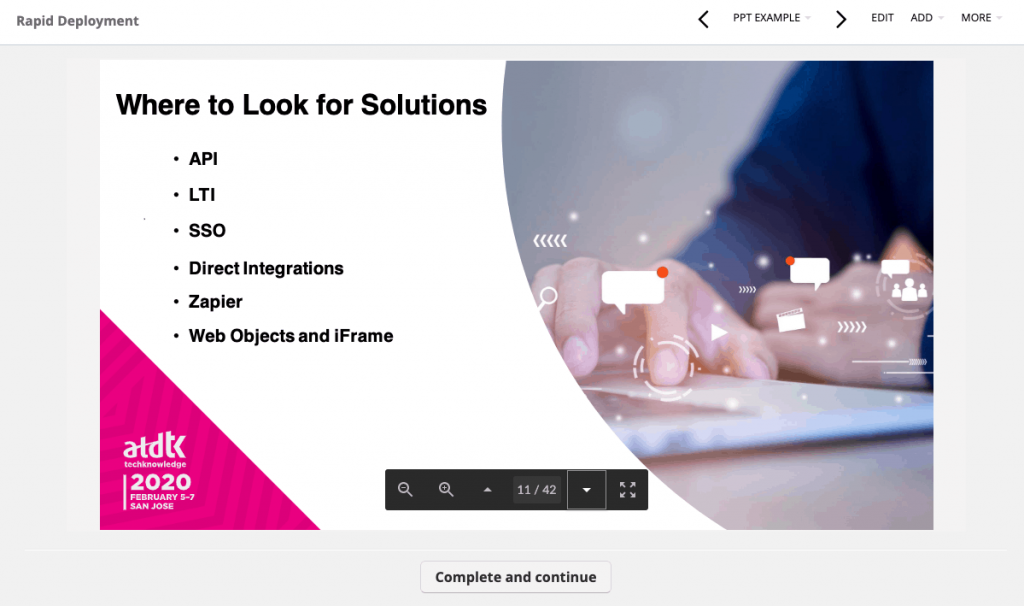 TalentLMS ppt example